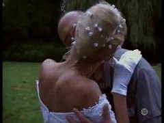 Naughty bride taken outdoors by two guys movies at kilovideos.com