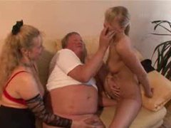 Two blonde ladies and a chubby guy movies at sgirls.net
