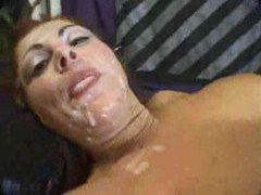 Messy cumshots are thick on pretty faces movies at kilopills.com