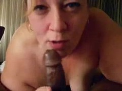 Milf sucking a black guy in pov movies at lingerie-mania.com