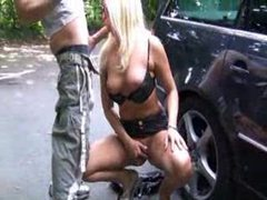 Girl sucking dick in a parking lot tubes