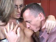 Horny threesome girl is taken by hard meat videos