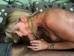 Mature gal sucks and strips before sex videos