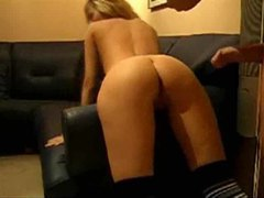 Big cock drills her ass as she moans movies at freekilosex.com