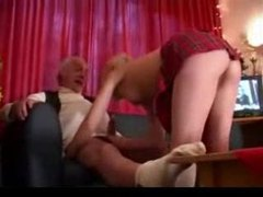 Young blonde fucked by gray-haired guy videos