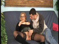 Mature in tasty stockings gives up ass videos