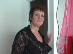 Lingerie granny stripping in bedroom videos