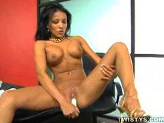 White dildo fucking her bare pussy movies at find-best-videos.com