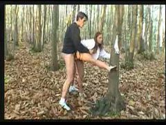 Fucking a redhead in the woods videos