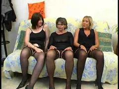 Three horny ladies join an orgy movies