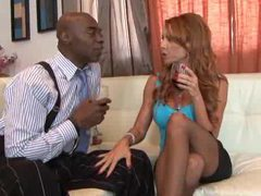 Redhead makes hubby watch her go black movies at sgirls.net