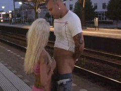 Chick fucked at a train station movies at freekiloclips.com