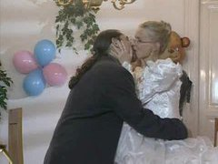 Bride in glasses has cock in her ass movies at kilovideos.com