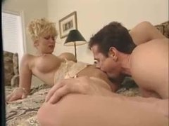 Peter north nails the blonde with his big cock clip