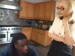 Milf in lingerie and the black man movies at relaxxx.net