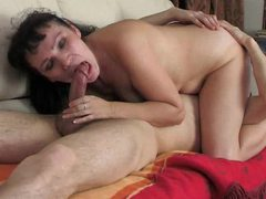 Milf seduces him with kissing and a bj videos