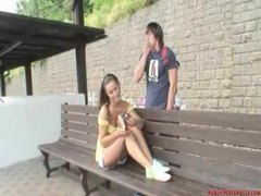 Fucking a slut at the train station videos