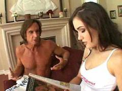 Two older guys fucking sasha grey hard movies at kilosex.com