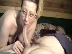 Cute wife in glasses deepthroating dick movies at lingerie-mania.com