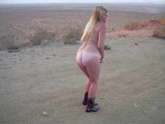 Naked chick in the desert sucking dick movies