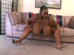 Humongous tits on the chubby black chick tubes