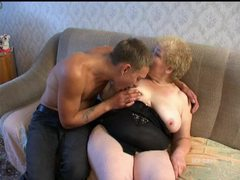 Chubby granny fucked by eager young man videos