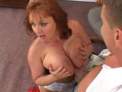 Slutty big tits redhead secretary taken movies at freekilosex.com