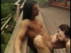 On the deck outdoors with cock fucking pussy movies at adspics.com