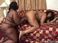 Fat black lesbian bitches using dildo tubes