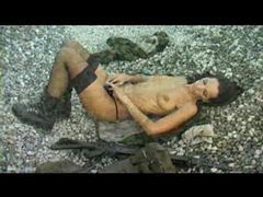 Military girl in the rocks masturbating videos