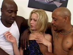 Black men with big cocks dp a skinny blonde videos