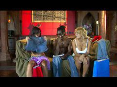 Two pornstars and big black cock in threesome movies at lingerie-mania.com