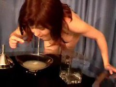 Girl drinks a whole bunch of sticky cum movies at kilopics.net