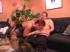 Mature redhead in lingerie is a pleasing lover movies at lingerie-mania.com