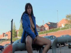 Flashing ebony teen masturbating in public movies at kilopics.com