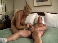 Chubby dude fucking blonde mature slut movies at adspics.com