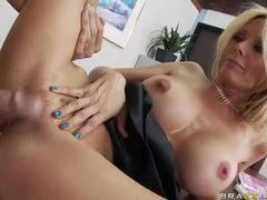 Holly sampson banged on a desk by a stud movies at sgirls.net