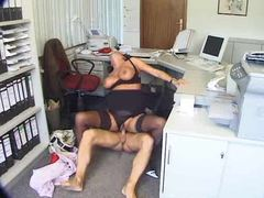Slut in her home office doing hardcore scene videos
