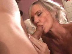 Pretty blonde milf with slender body fucked videos
