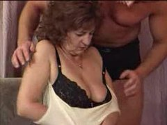 Granny in lingerie loves young man cock videos