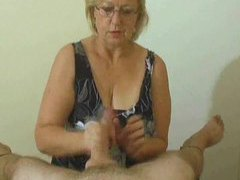 Handjob compilation with fun cumshots videos