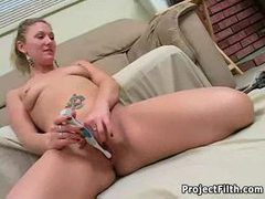Masturbating with her electric toothbrush movies at find-best-videos.com