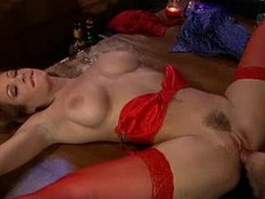 Busty redhead nailed in the bar movies at freekilomovies.com