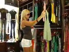 Fucking a super hot blonde in the change room movies at kilopics.net