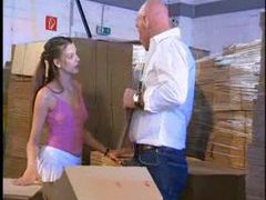 Fucking her teen pussy in the warehouse videos