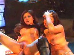 Two club sluts in wild foursome movies at find-best-ass.com