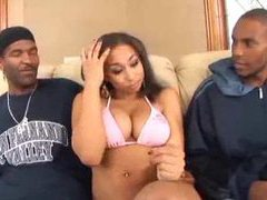 Black chick gets into threesome with guys movies at find-best-ass.com