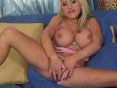Enormous tits on blonde that loves anal videos