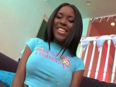Young black girl with perky tits uses toy movies at find-best-pussy.com