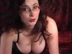 Hot glasses girl on webcam uses two toys movies at find-best-panties.com
